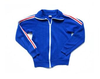Vintage 70's TODDLERS Athletic Track Jacket Sz M(10-12)