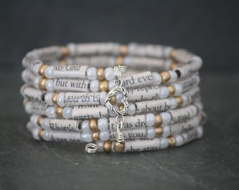 Gone With the Wind, Gone With the Wind gift, Gone With the Wind jewelry, Gone With the Wind bracelet, book page bracelet, book lover gift