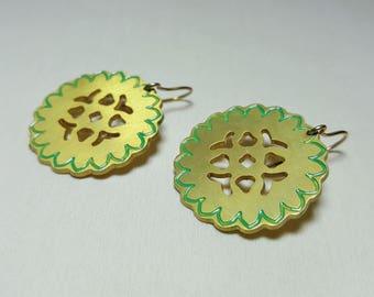 Dangle Celtic Earrings, Celtic Earrings, Celtic Jewelry, Minimalist Jewelry, Boho Earrings, Geometric Dangle Earring, Everyday Jewelry Gift