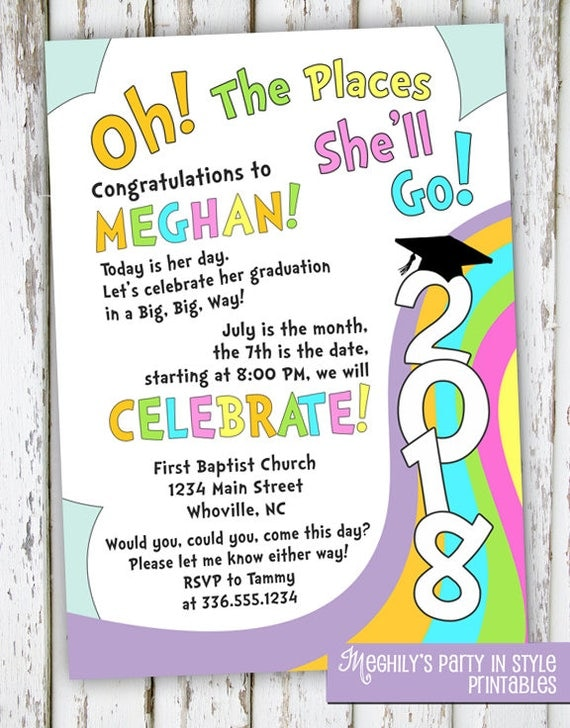 Meghily S Oh The Places You Ll Go Graduation Invite