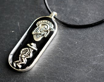Skeletons Necklace - Skull Necklace - Day of the Dead - Festival Necklace - Day of the Dead Gift - Gothic Jewellery - Unusual Necklace