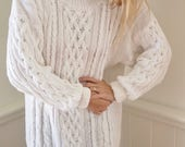 vintage KNIT TURTLENECK sweater dress