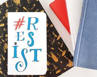 Resist Journal —Hand Lettered Notebook