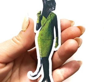Cat Lady Sticker | Cat Lover Sticker | Animal Laptop Sticker | Outdoor Sticker | Yeti Sticker | Waterbottle Sticker Teen Stocking Stuffer