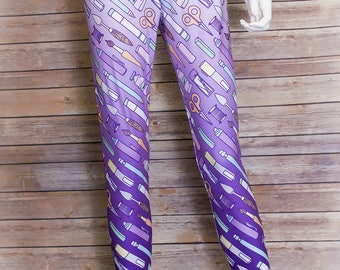 Tools of the Trade, Leggings for Adults, Pastel Goth Clothing, Pastel Grunge, Soft Grunge, Kawaii, Yoga, Plus Size