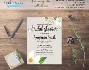 The Magnolia Collection Printable Bridal Shower Invitation