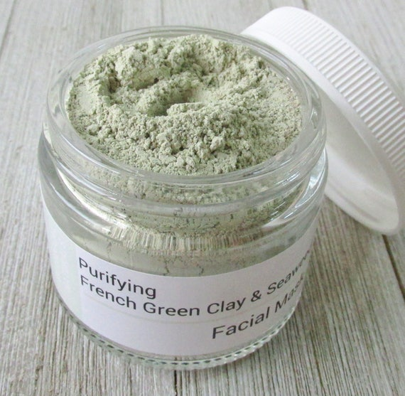 French Green Clay & Seaweed Face Mask Oily Skin Natural