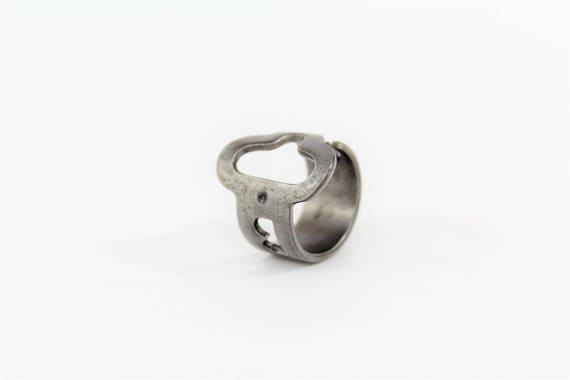 Ring made from an antique KEY! - Size 9.5 - Brooklyn History - Jewelry - Powder Coated Steel - Repurposed - Handcrafted - New York - B