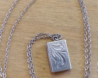 Tiny Vintage Sterling Silver Opening Book Locket
