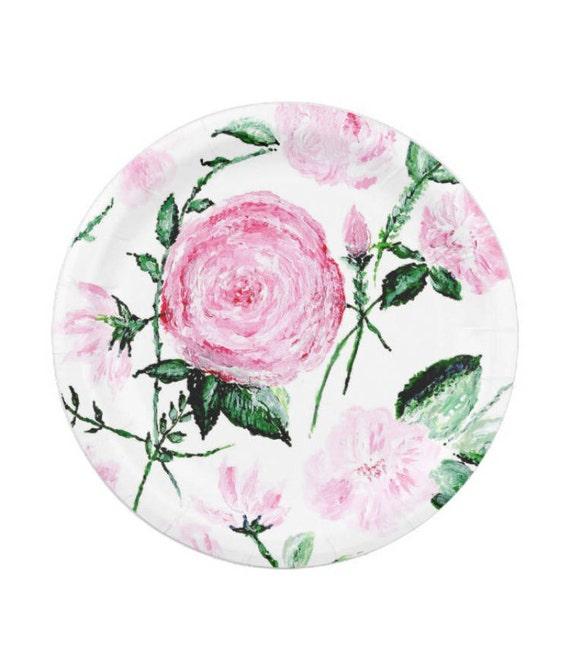 Floral Rose Paper Plates rose paper plates pink floral plates floral paper plate flower paper plates floral paper plates from lake1221 on Etsy Studio  sc 1 st  Etsy Studio & Floral Rose Paper Plates rose paper plates pink floral plates ...
