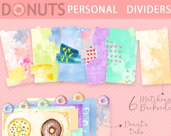 DONUTS dividers for PERSONAL planner
