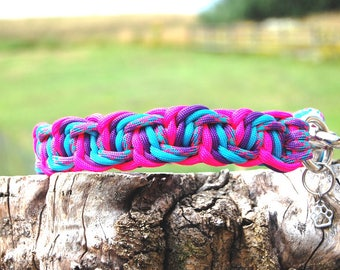 Custom 4 Color Maze Runner Paracord Dog Collar, Choose Your Colors & Closure Type, Strong Dog Collar, Sturdy Dog Collar, Cute Dog Collar