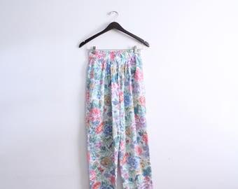 Girly Flower 80s Summer Pants