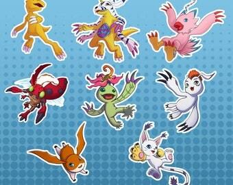 Digimon Digital Monsters Adventure 01 Vinyl Die Cut FanArt Sticker Set