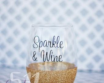 Sparkle and Wine Stemless Wine Glass