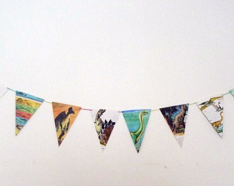 Vintage Dinosaur Bunting/ Party Decor/ Room Decor