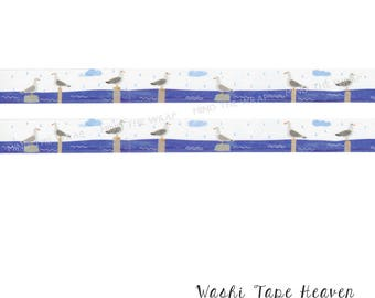 NEW Seagulls Washi Tape - 15mm x 7m - Summer Ocean Beach Planners Decoration Collage Paper Crafting Supply