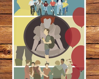 Stephen King - IT - Pennywise - The Losers Club Giclee Print