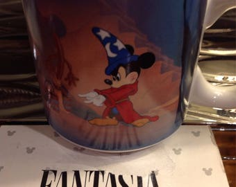 Vintage Walt Disney Fantasia Mickey Mouse The Sorcerer's Ceramic Coffee Mug Cup