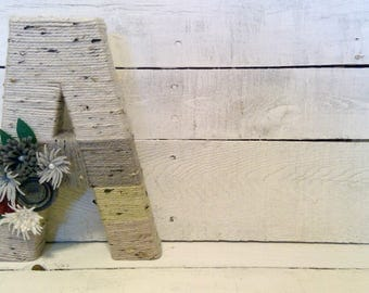 Yarn Wrapped Letters | Fall Letters | Fall Decor | Room Letters | Wall Letters | Room Decor | Fall Room Decor