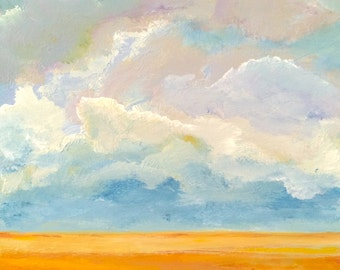 Breath of Prairie, Original Painting by James Bohling, 8'' x 8'' x 2''