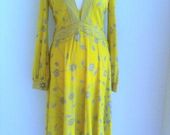 1970s EMILIO PUCCI V-Jersey Dress - Medium