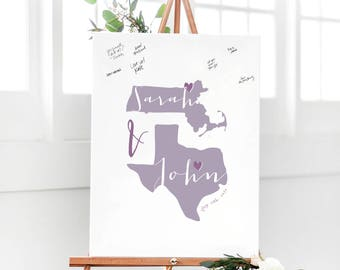 Rustic Wedding Guest Book Alternative - Map Guest Book - Guestbook Alternative Map - Unique Wedding Guest Sign In Board Idea
