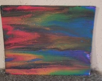 Rainbow Baby Acrylic Painting