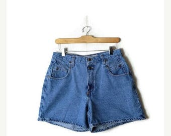 ON SALE Vintage Blue Denim Shorts from 90's/W28*