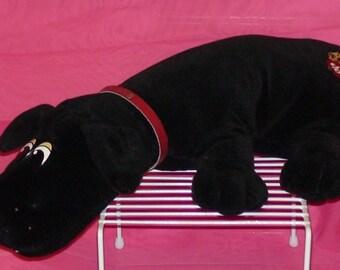 Vintage Tonka 1985 Large Black Pound Puppy! With Collar!