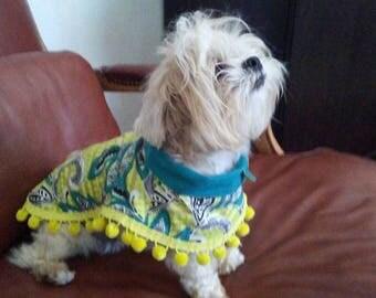 Island Chic Poochi Poncho Dog Coat for Any Season: Quality, Reversible, Comfortable, Custom Made
