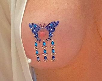 Plus Size Lingerie Nipple Jewelry,Butterfly Jewlery,Fake Nipple Jewelry,BDSM Jewelry,Cosplay Jewelry,Pasties,Tassels,Pasty,NPJ-13