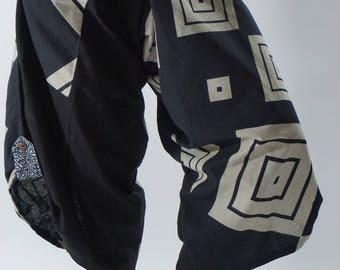SR0250 Samurai pants with Unique Hilltribe fabric Wrap Around