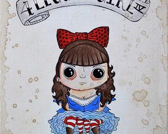 Four Legged Girl print, sideshow, freakshow, carnival, horror, freaks, side show,