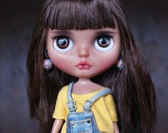 Grace custom ooak blythe doll, unique art doll by AlmondDoll