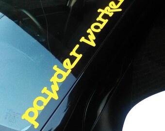 Midnight Oil Fan powderworker - Yellow  adhesive vinyl decal