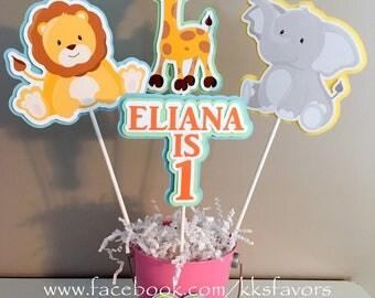 Baby / Animals / Safari / Animal Baby Shower / 1st Birthday / Safari Baby  Shower