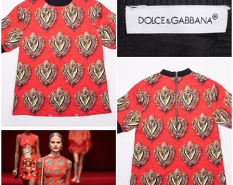 DOLCE & GABBANA S/S 2015 Sacred Hearts Collection Petite / Junior Blouse