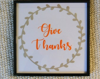 Give Thanks Wall Hanging