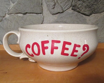 Rare Extreme Coffee and Snack Cup by Nelson McCoy Pottery 7520