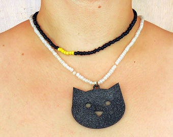 Black Cat. Necklace.