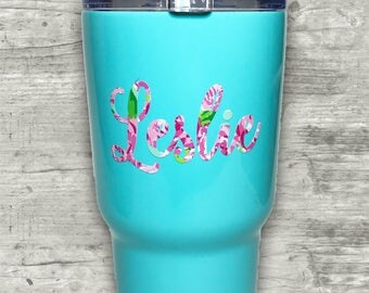30 oz Stainless Steel tumbler, Mint RTIC tumbler, Powder coated tumbler RTIC, 30 oz tumbler, Personalized tumbler, similar to Yeti