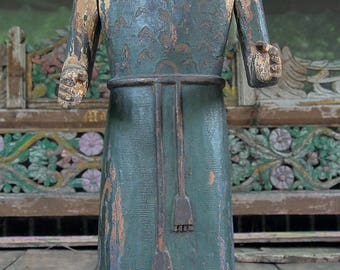 Antique South West US Santo Figure, Franciscan Friar, Early 20th Century