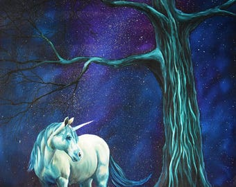 Dreaming of Unicorns - Greetings Card Fine Art Print