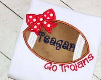 Girls Football red blue shirt Baby girl football shirt in red white and blue Navy and red football clothing for girl Size 2t 3t 4t 5 6 8 10