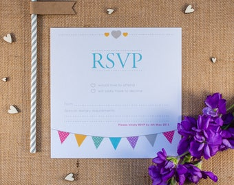 KATE // Wedding Stationery // RSVP Card
