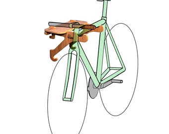 Bamboo Bike Rack  | Bike Shelf - The Rackcycle
