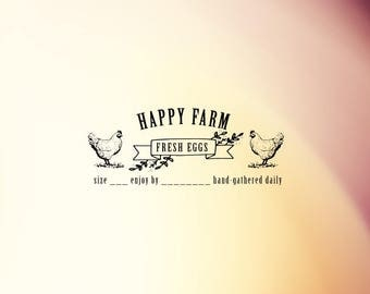 Personalized Farm Stamp, Egg Carton Stamp, Egg Stamp, Chicken Stamp, Packaging Stamp Rubber Stamp, Self Inking Stamp - CB715