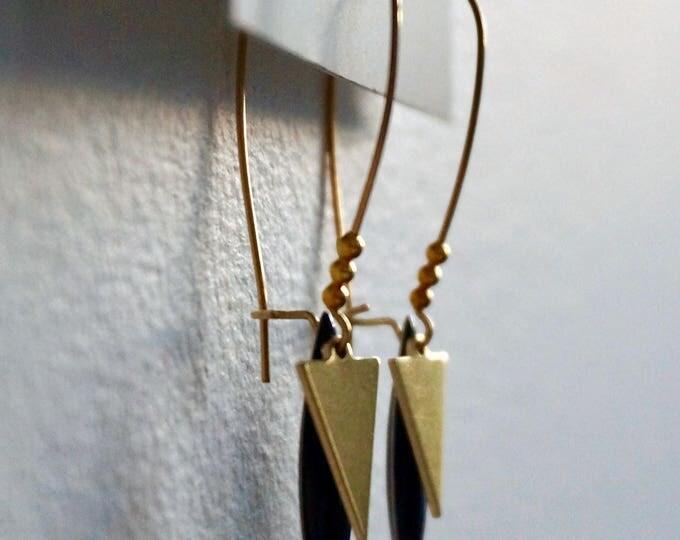 Ava Gold Earrings.