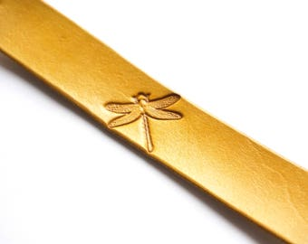 Leather Bookmark | Dragonfly